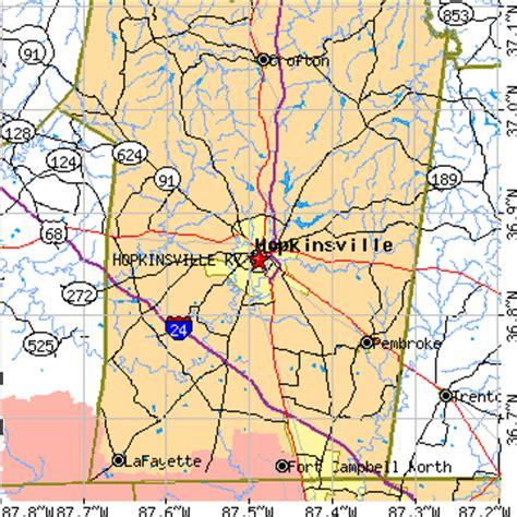 kentucky map hopkinsville hopkinsville kentucky ky population data races