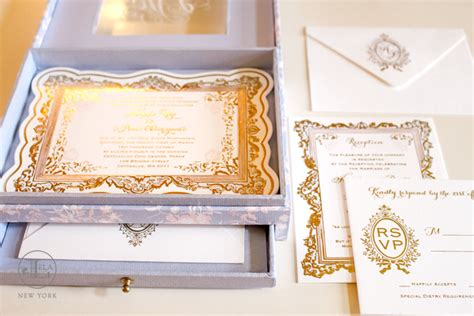 Luxury Wedding Invitations by Box Wedding Invitation New York Luxury Wedding