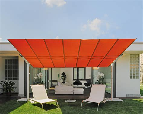 Freestanding Awning by Flexy Freestanding Dual Post Shade System By Fim