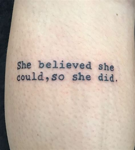 she believed she could tattoo 30 best inspiration