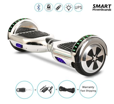 bluetooth hoverboard with lights chrome bluetooth hoverboard with led lights on the top of