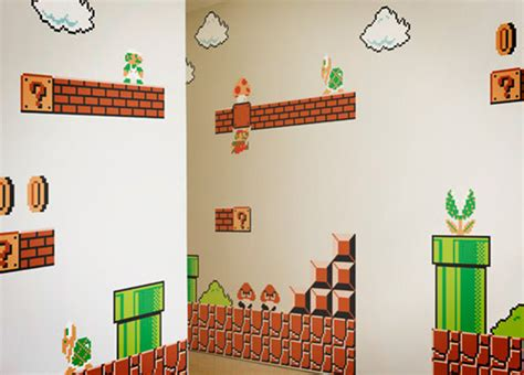 stickable wallpaper nintendo super mario bros wall graphics thinkgeek