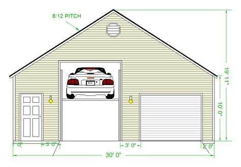 2 Car Garage Designs garage planned for a lift