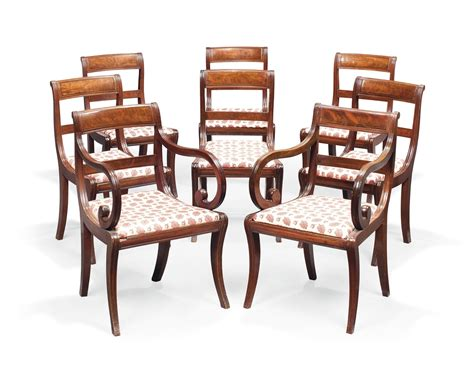 Regency Dining Chairs A Set Of Eight Regency Mahogany Dining Chairs Early 19th Century Dining Chair Furniture