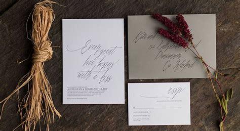 letterpress wedding invitations ireland letterpress wedding invitations business stationery