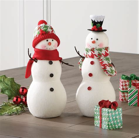snowman decorations to make raz at shelley b home and