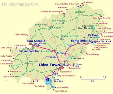 san jose map ibiza map of ibiza map travel holidaymapq