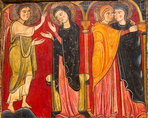 imagen de la virgen maria visitando a su prima isabel virgen maria visita a su prima santa isabel icono bellas