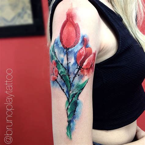 watercolor tulip tattoo on instagram watercolor tulip best ideas gallery