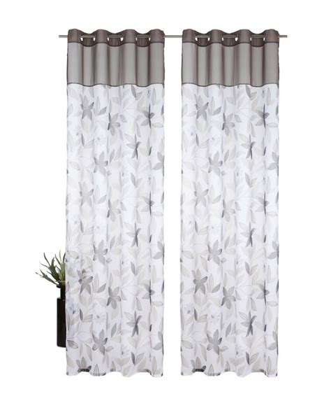 gray brown curtains free shipping european style pattern printed eyelet