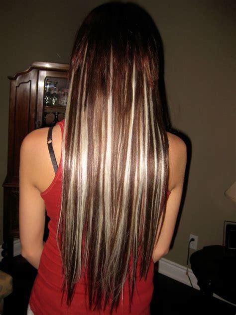 brown hair with platinum highlites platinum blonde highlights on brown hair short or medium