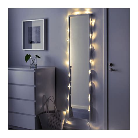 lights ikea s 196 rdal led lighting chain with 24 lights transparent