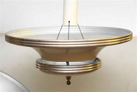 shaped light fixture saucer shaped nickel 1950s light fixture olde things