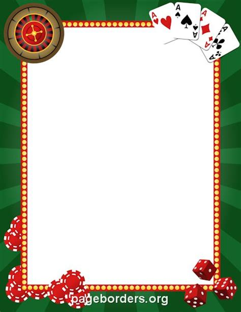 Printable Casino Border Use The Border In Microsoft Word Or Other Programs For Creating Flyers Free Casino Templates