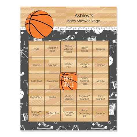 Basketball Baby Shower by Basketball Baby Shower Bingo 16 Unique Personalized Gift