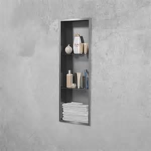 niche de en inox encastrable pour salle de bain