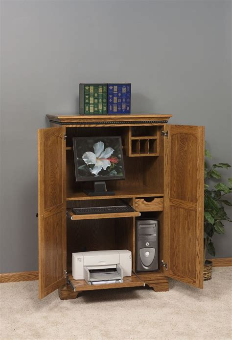 amish computer armoire desk