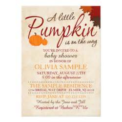 fall pumpkin baby shower invitation zazzle