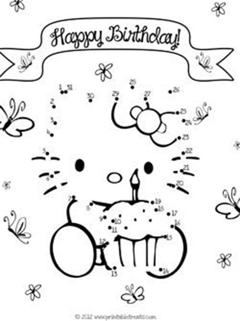 printable hello kitty numbers hello kitty color by numbers and kitty on pinterest