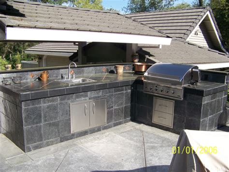 Outdoor Kitchen Tile by Outdoor Kitchens In Sacramento Ca Outdoor Kitchens