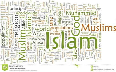 islam word cloud stock images image 9958714