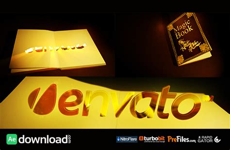 template after effects free book magic book videohive template free download free