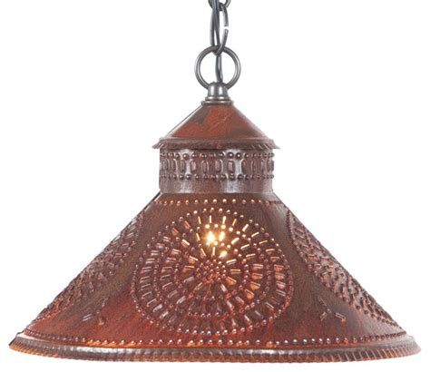 Punched Metal Pendant Light Handmade In The Usa Punched Tin Pendant Shade Light Reviews Houzz