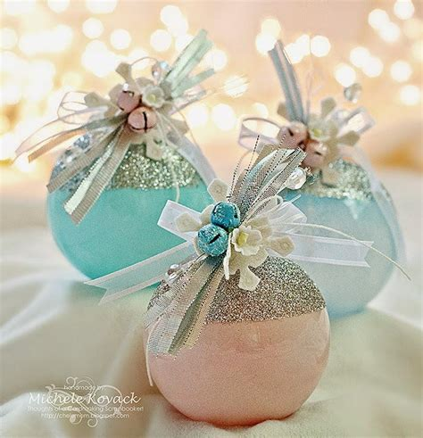 Make Handmade Ornaments - glamorous diy glass ornaments