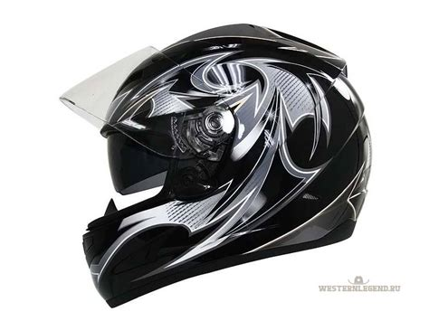 Black Hawk Leather Black Blue hawk black silver motorcycle helmet