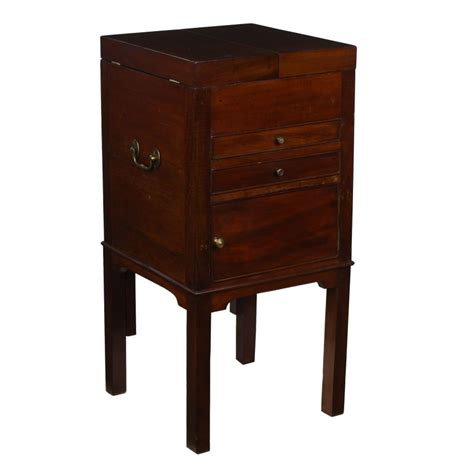 Antique Commode Cabinet by Georgian Antique Mahogany Metamorphic Pot Cupboard Commode