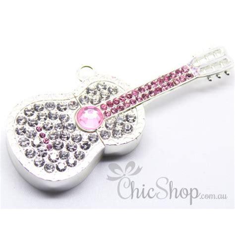 Usb Jewelry 8gb Silver silver colour guitar shaped jewelry designer usb flash