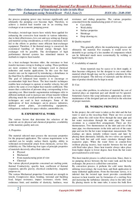 heat transfer research papers research paper on heat transfer 28 images analysis of