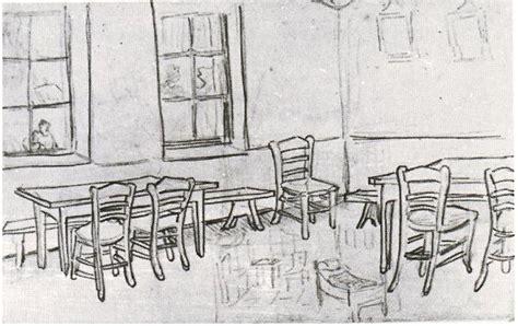 interior   restaurant  vincent van gogh  drawing