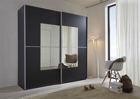 kleiderschrank schwarz weiß mit spiegel schwebet 252 renschrank wei 223 spiegel quadratisch