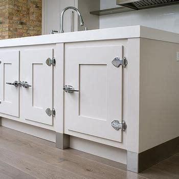 kitchen island cabinets  vintage latch hardware