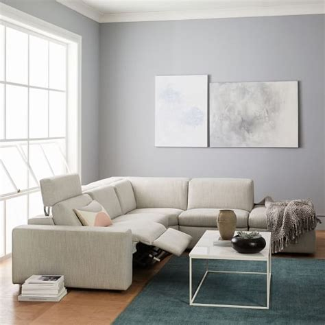 enzo sofa west elm enzo reclining 4 seater sectional with storage