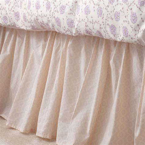 custom ruffled bed skirt