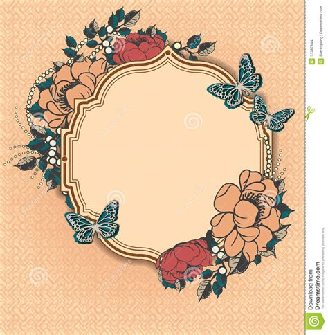flower frame template floral frame template stock images image 33287844