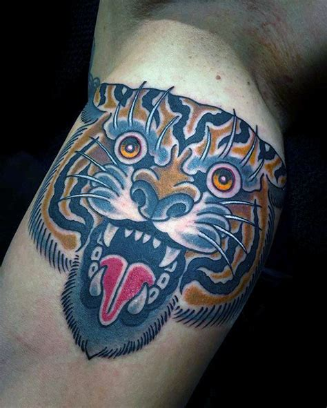 old school tiger tattoo 75 traditional tiger designs for striped ink