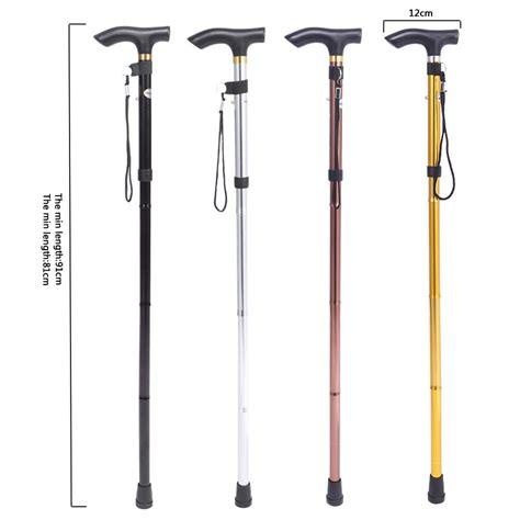 folding walking stick with light reliable handle folding cane with led lights walking