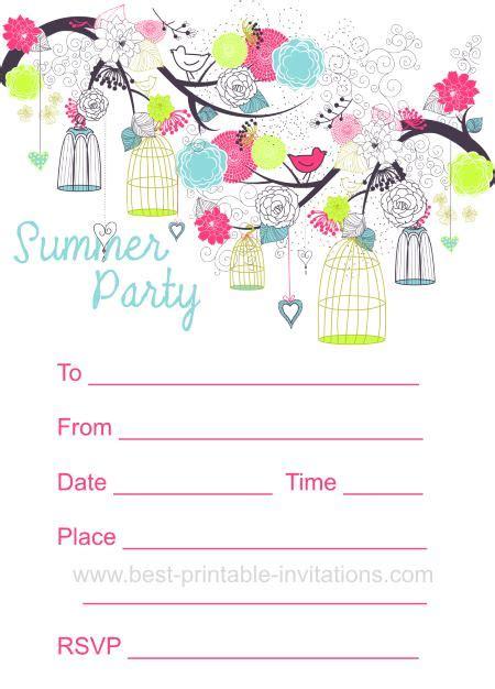 free summer invitation templates 7 best images of summer printable invitations