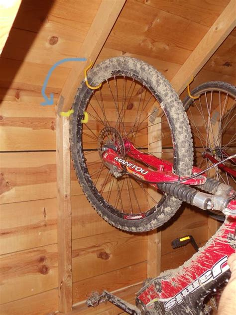Bike Hooks For Shed by Bicycle Storage Indoors Bicycles Stack Exchange