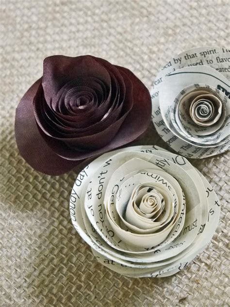 How To Make Roses With Paper - how to make rolled paper roses hgtv
