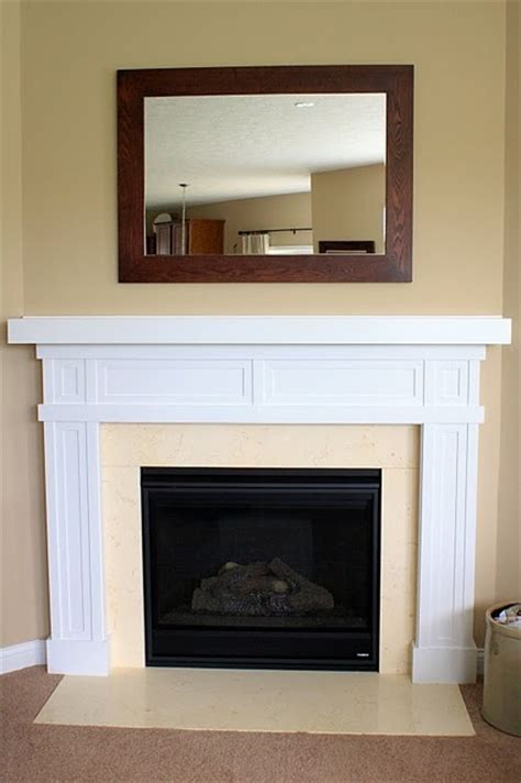 diy fireplace surround home decor