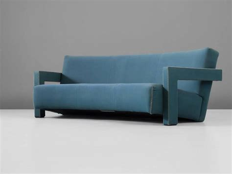 utrecht sofa gerrit thomas rietveld curved utrecht sofa in blue