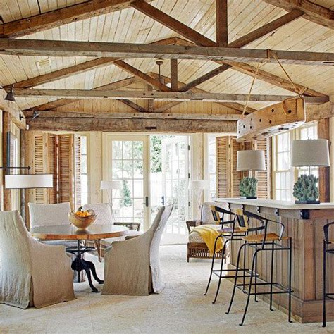 exposed ceiling beams i like the exposed beams maybe use bead board for the