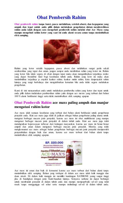 Obat Pendarahan Rahim 1 obat pembersih rahim tanpa kuret