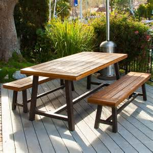 Outdoor Dining Furniture Furniture Clean Outdoor Wood And Metal Dining Table For