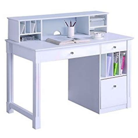 deluxe white wood computer desk with hutch modern we furniture deluxe solid wood desk w hutch white