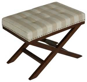 X Bench Ottoman X Bench Ottoman Stripes Transitional Footstools And Ottomans By Cortesi Home